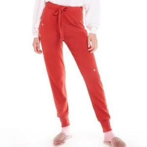 Wildfox // Red Snowflake Jogger Sweatpants